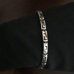 Beautiful Italian 925 Silver Greek Key Bracelet.